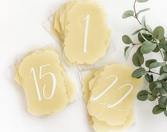 Table Number Set 1-22 [Gold + White]