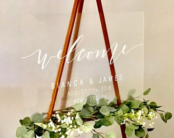 Wedding Welcome Sign | Acrylic Welcome Wedding Signs | Acrylic Signs | Custom Wedding Signs | Wedding Ceremony Sign | Personalized Sign