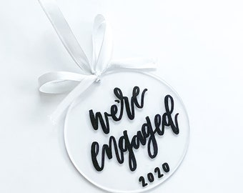 CLEARANCE | We're Engaged 2020 Ornament