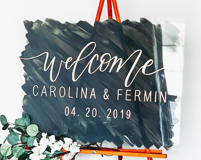 "Featured listing image: ""Welcome"" Wedding Sign"