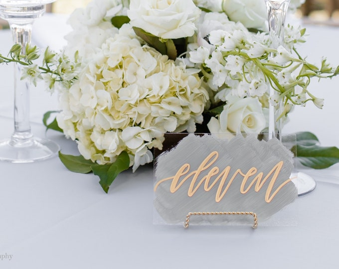 Featured listing image: Acrylic Wedding Table Numbers [Wide]