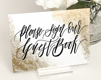 Custom Metallic Accented Acrylic Wedding Signs