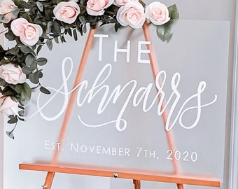 Frosted Acrylic Welcome Wedding Sign