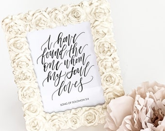 Printable Song Of Solomon 3:4 Wedding Sign