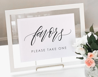Printable Favors Sign