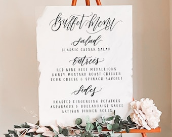 Buffet Menu Wedding & Event Sign
