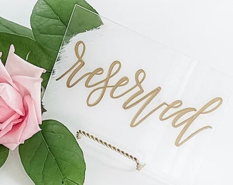 """Reserved"" Event & Wedding Sign"