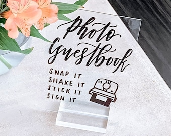 """Photo Guestbook"" Camera Wedding Sign"