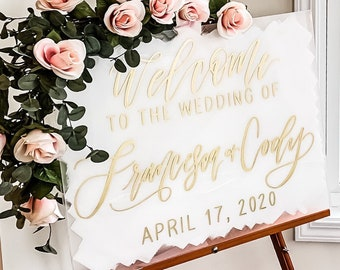 """Welcome To Our Wedding"" Welcome Sign"