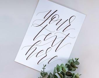 Custom Cardstock Wedding Sign