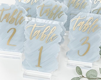 Acrylic Wedding Table Numbers [Tall]