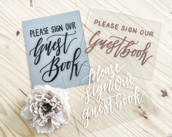 Please Sign Our Guestbooik Sign [Gray & Black]