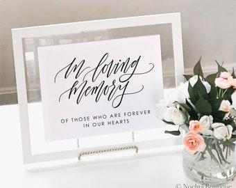 Printable In Loving Memory Wedding Sign