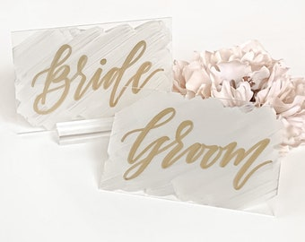 Bride & Groom Wedding Place Card Set [4x6 Inch]