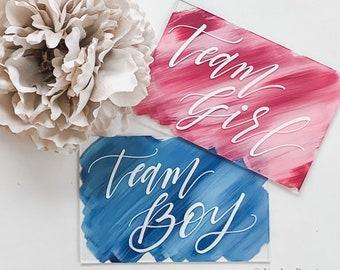 Team Boy   Team Girl Gender Reveal Signs [set of 2]