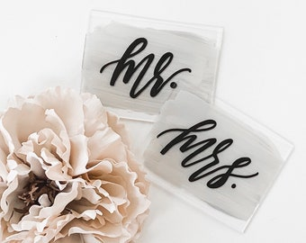 Mr. & Mrs. Wedding Place Card Set [3x4 Inch]