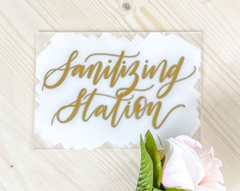 CLEARANCE | Sanitizing Station Wedding Sign