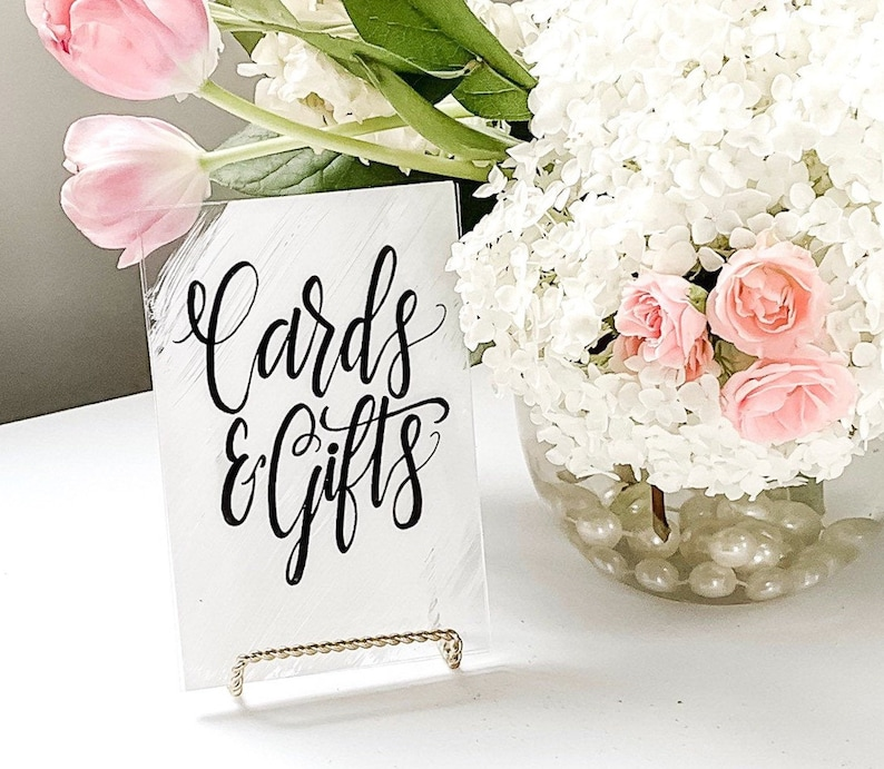 Cards & Gifts Table Wedding Sign  Acrylic Wedding Sign  image 0