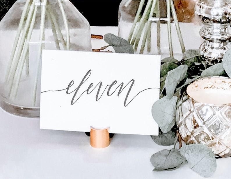 Hand Lettered Wedding Table Number Handlettered Etsy