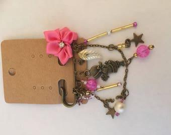 Strawberries and cream kilt pin brooch