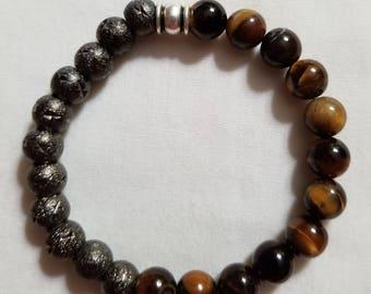 Balance ~ Tigers Eye & Hematite Bracelet