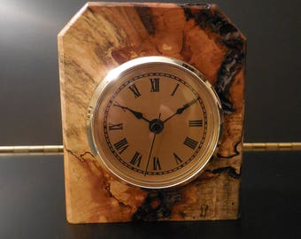 0174 SPALTED MAPLE CLOCK