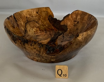 Hand turned Spalted Maple Burl Bowl