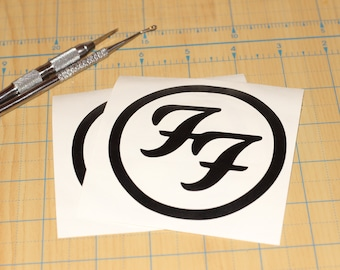 Foo Fighters decal | Foo fighters FF logo decal