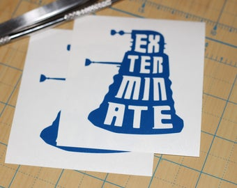 Dr. Who Dalek Sticker | Doctor Who Exterminate Dalek