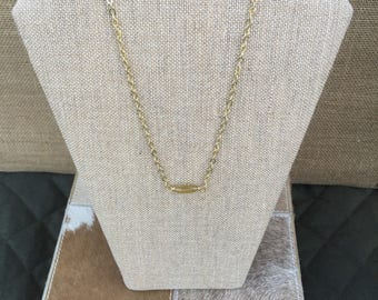 Yellow Sea Glass and Gold 32 inch Necklace