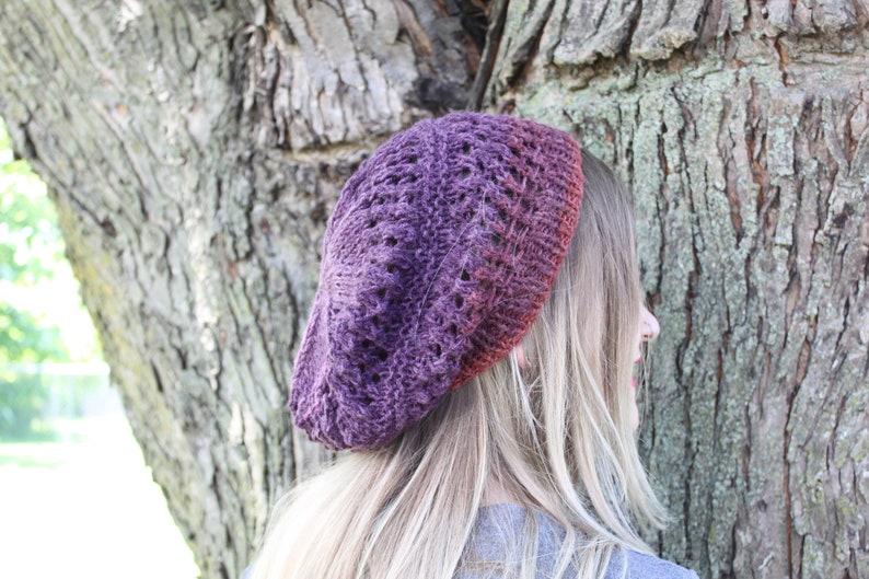 Boho Slouchy knit slouchy pattern knit hat pattern Knitting Pattern for Birmingham Lace Slouchy Bohemian Slouchy hat Lace slouchy