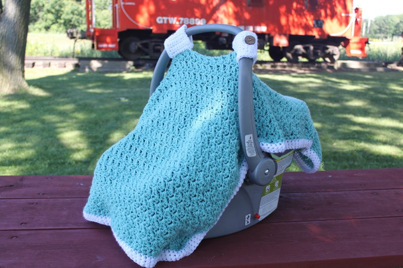 Crochet Pattern For Charleston Car Seat Cover Carseat Cover Etsy