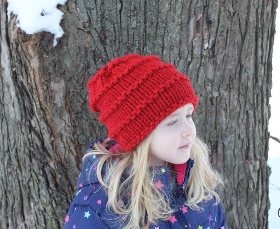 Knitting Pattern for CC Beanie Knit hat beanie pom pom  4f6bf3367a2