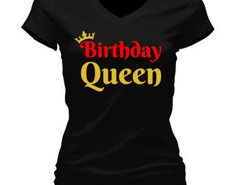 Birthday Queen Tee Shirts Womens Tees Urban Tshirt Gift