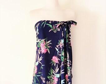 b13b49938c Tropical Sarong Wrap, Tropical Beach Wrap, Beach Pool Sarong, Tropical  Flowers Print, Floral Print Sarong, Beach Coverups, Womens Beach Wear