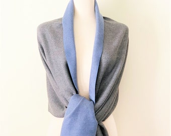 0c545c45d Double Sided Cashmere Wrap Scarf, Reversible Oversized Cashmere Shawl  Cashmere Wrap, Cozy Soft Cashmere Throw Women's Fashion Cashmere Scarf