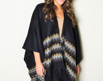 a2602f91b5d1f SALE 29.00 Chevron Knitted Poncho