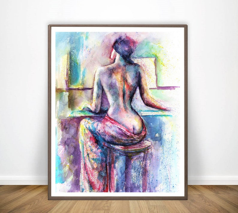 Abstract nude prints