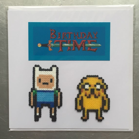 Adventure Time Finn Jake Birthday Card Etsy