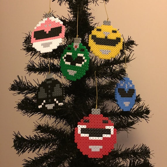 Power Rangers Christmas Tree.Power Rangers Christmas Pixel Baubles