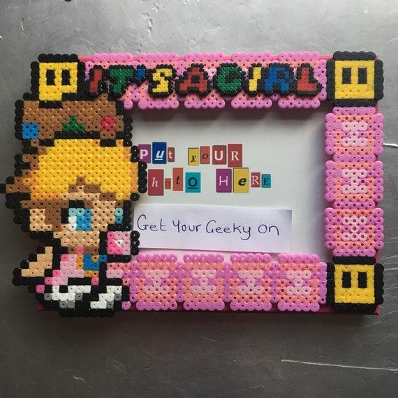 Cadre Bébé Princesse Peach Pixel