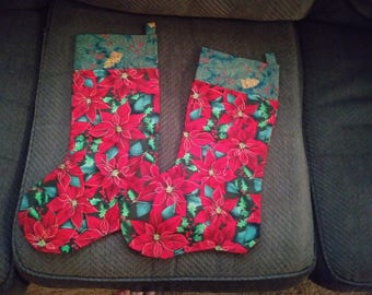 Matching Christmas stockings of the same size