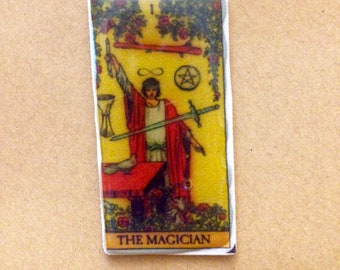 Tarot card pin- gift tarot card readings badge gift symbolism playing cards divination simple tarot trimmed deck oracle cards magic cards