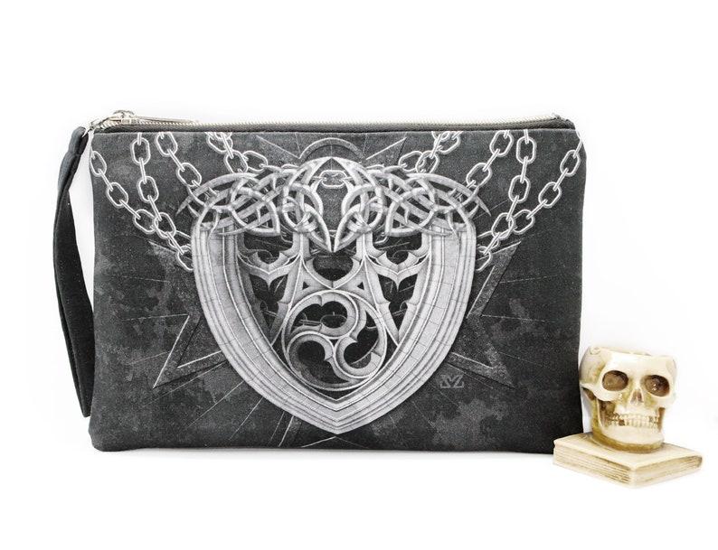 Gothic Chains wristlet clutch purse image 0