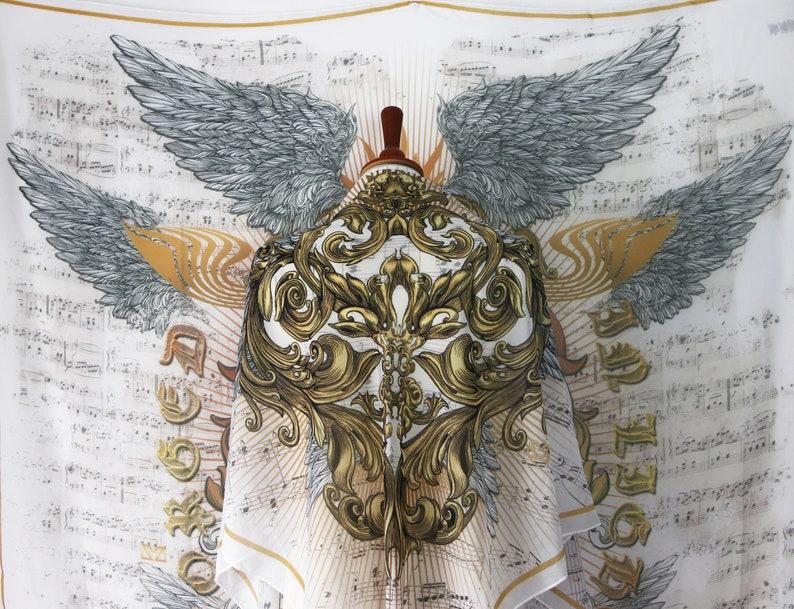 Classic music teacher gift angel wings shawl with opera sheet image 1