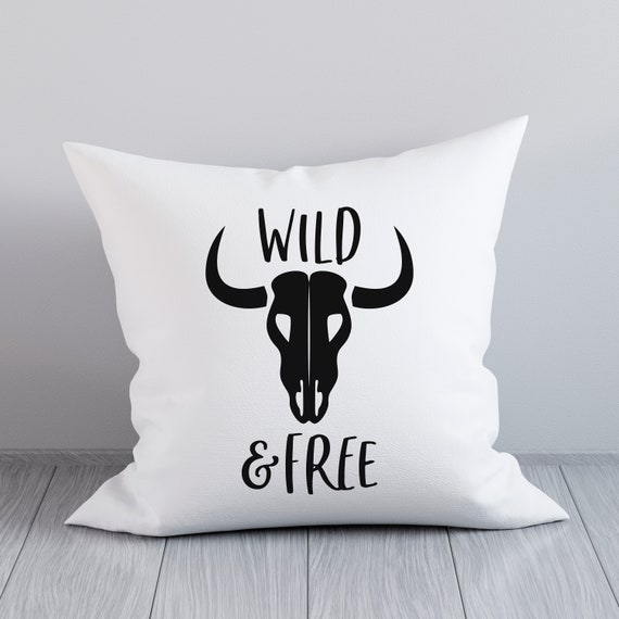 Wild And Free Svg Boho Svg Bull Horn Cut File Rustic Decor Etsy