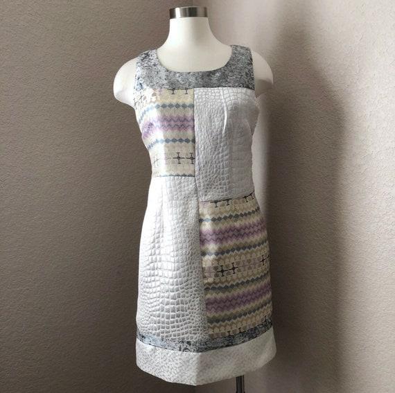 VINTAGE Parisian Pearlescent Brocade Dress