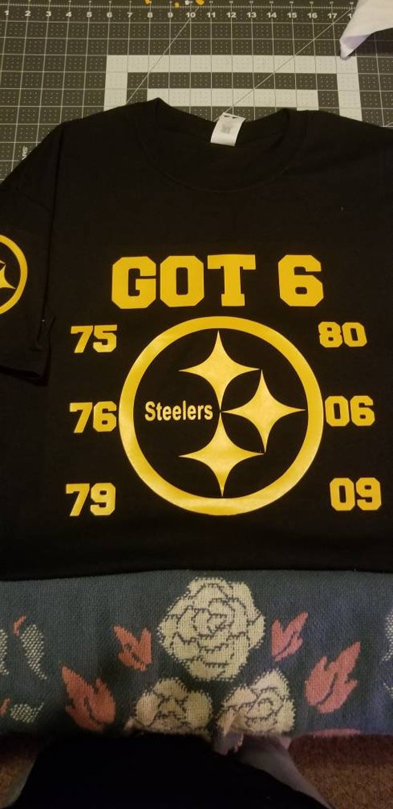 Steelers football nfl custom yellow and black shirt superbowl  7a58d56f0