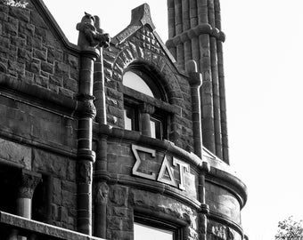 8 x 10 Black and White Architecture Digital Photograph/Physical Print of a Historic Building in New York on Epson Luster Premium Photo Paper