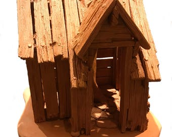 Treehouse - ceramic (earthenware) sculpture